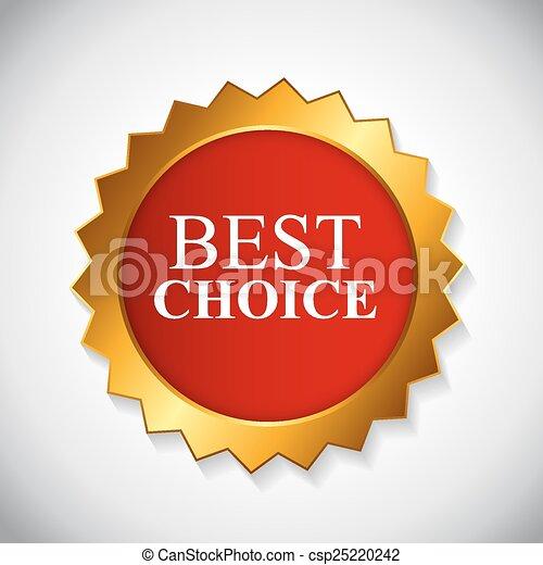 ilustración, opción, vector, mejor, etiqueta, cinta - csp25220242
