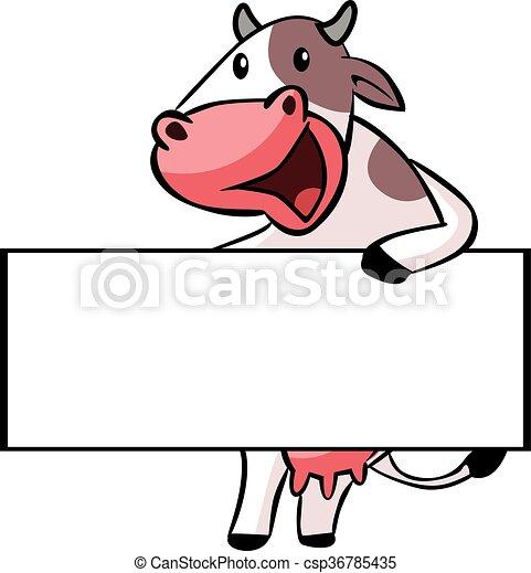 Ilustración de vacas - csp36785435
