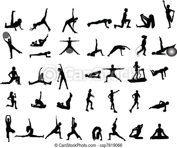 Ilustraciones de ejercicio - csp7619066