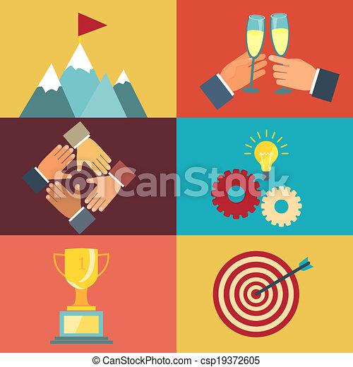 Ilustraciones de liderazgo de negocios - csp19372605