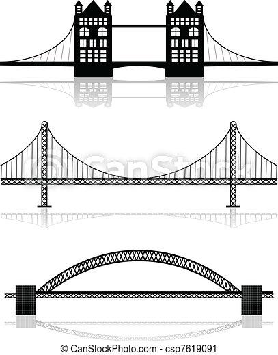 Ilustraciones de puente - csp7619091