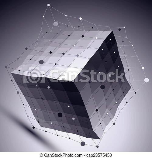 ilustracja, abstrakcyjny, geome, wektor, perspektywa, techniczny, 3d - csp23575450