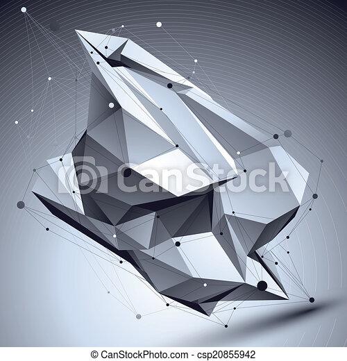 ilustracja, abstrakcyjny, geome, wektor, perspektywa, techniczny, 3d - csp20855942