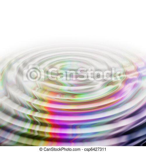 ilustrado, desenho, fundo, onda - csp6427311