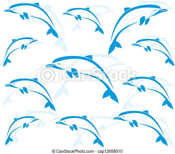 Imágenes de papel tapiz de delfines - csp12658010