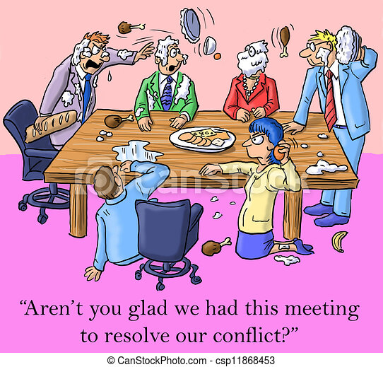 I'm glad we had this meeting to resolve conflict - csp11868453
