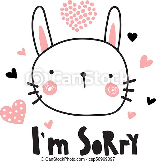 im sorry vector template of a greeting card i m sorry text and