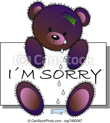 i m sorry vectors illustration search clipart drawings and eps rh canstockphoto com sorry clipart animated sorry clipart free