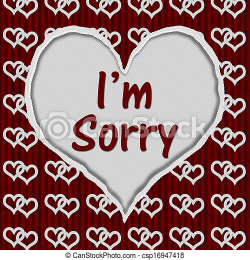 Sorry wallpapers for love free download impremedia im sorry message csp16947418 voltagebd Gallery