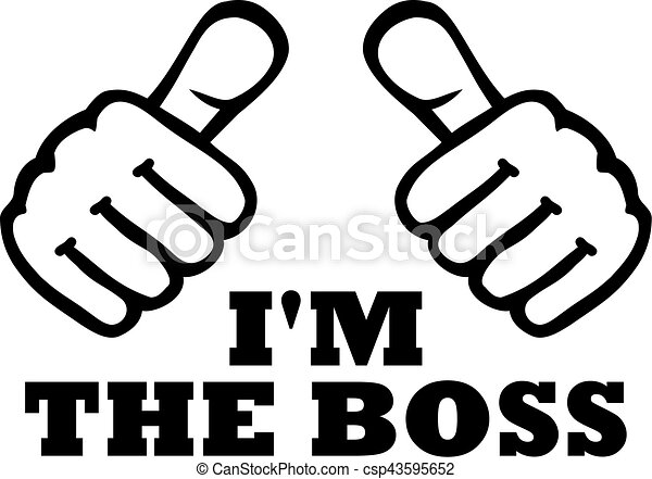Im The Boss T Shirt Design With Thumbs