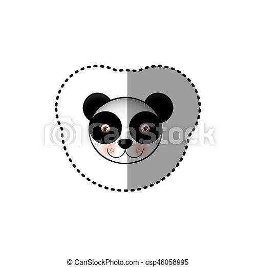 Image Coloré Mignon Autocollant Figure Animal Petit Panda