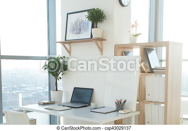 Image concepteur bureau travail laptop confortable cahier