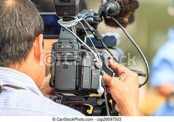 image, couverture, prendre, -, photographes, appareil photo, vidéo, événement - csp29597503