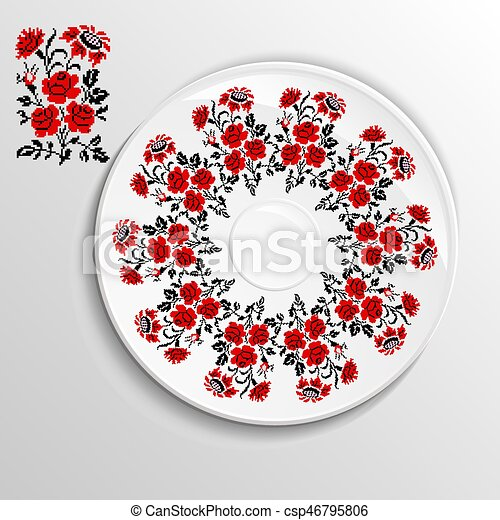 Image decorative plate - csp46795806  sc 1 st  Can Stock Photo & Image decorative plate. Table appointments in restaurant..... vector ...