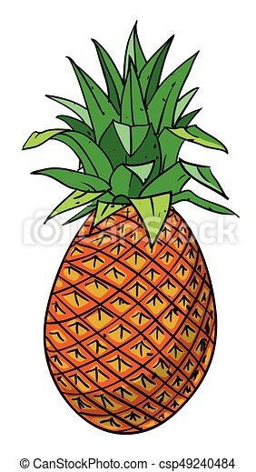 Image Dessin Animé Ananas