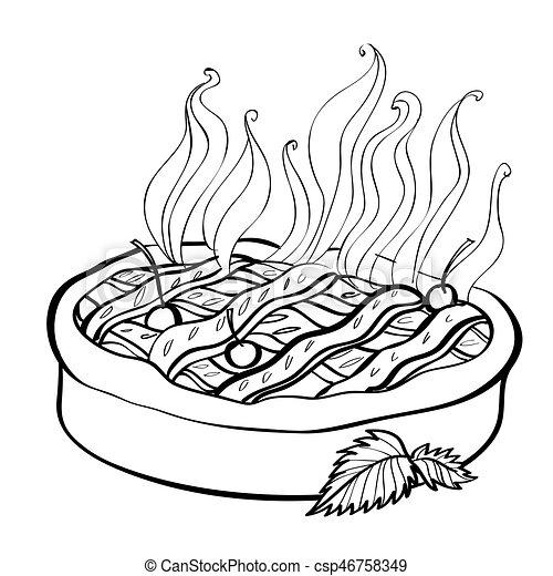 Image dessin anim tarte pie image picture - Dessin tarte aux pommes ...