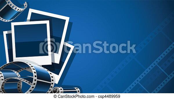 image, ensemble, vidéo, pellicule, photo - csp4489959