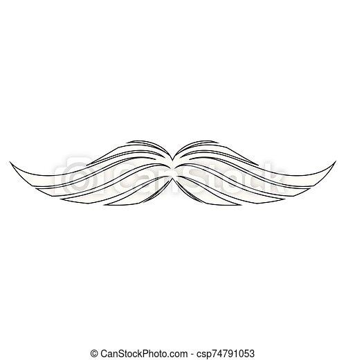 image, isolé, moustache - csp74791053