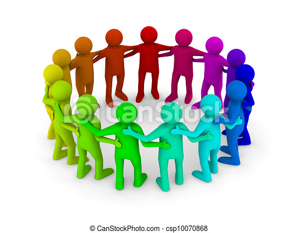 image, isolé, teamwork., conceptuel, blanc, 3d - csp10070868