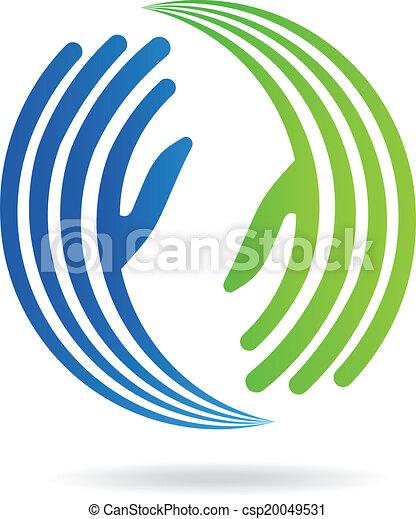 image, mains, pacte, logo - csp20049531