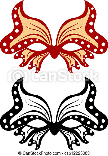 image masquerade mask in the shape of a butterfly vector search rh canstockphoto com