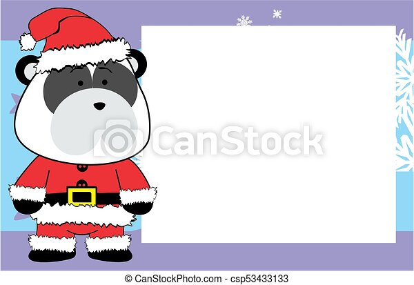 Image Mignon Cadre Ours Noël Fond Dessin Animé Panda
