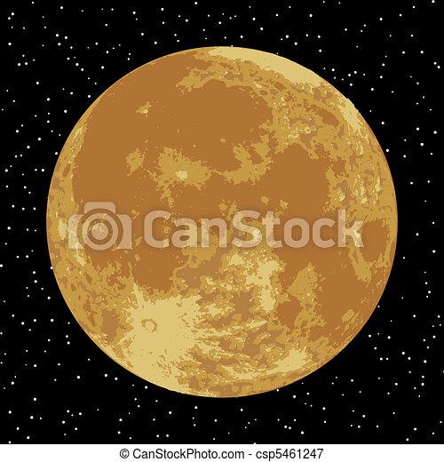 image., moon., eps, 現実的, ベクトル, 8 - csp5461247