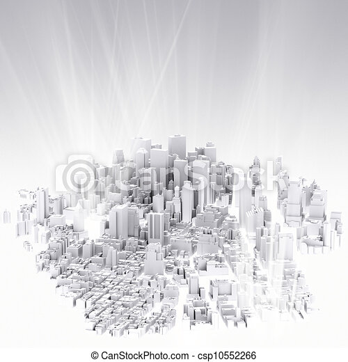 image of 3d render of city scape - csp10552266