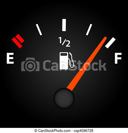 Image of a gas gage on a dark background. - csp4596728
