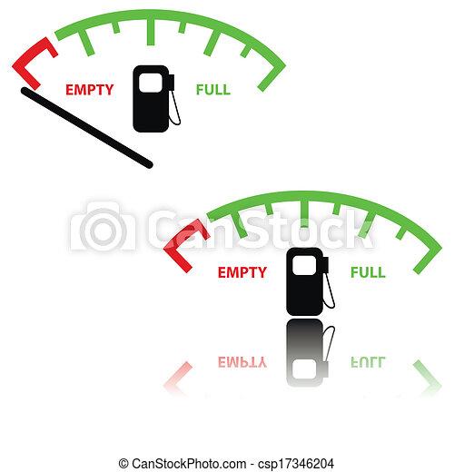 Image of a gas gauge illustration - csp17346204