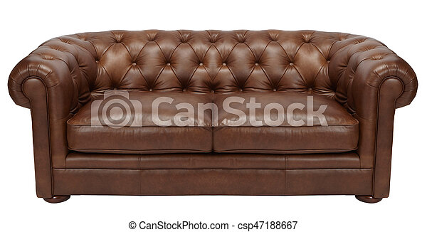 Strange Image Of A Modern Brown Leather Sofa Over White Background Machost Co Dining Chair Design Ideas Machostcouk
