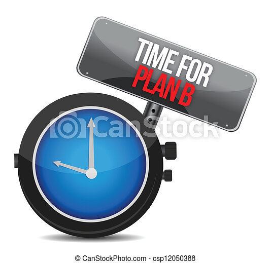 image of a nice clock with time for Plan B - csp12050388