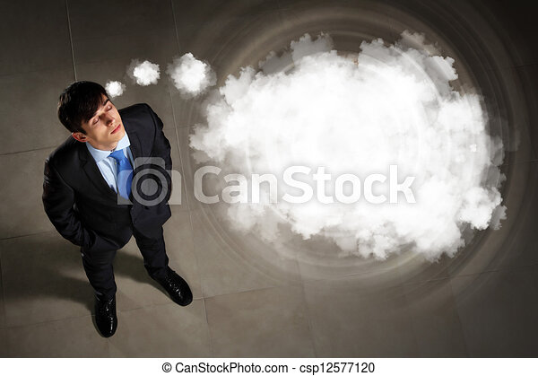 Image of businessman top view - csp12577120
