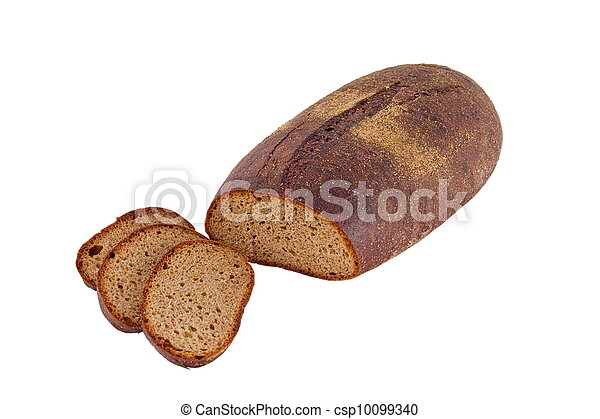 Image of dietary loaf of rye bread - csp10099340
