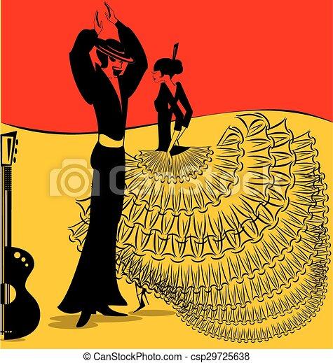 image of flamenko dance - csp29725638