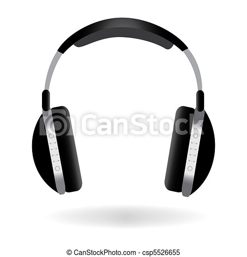 Image of headphones isolated on a white background. - csp5526655