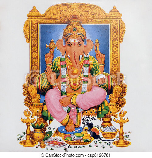image of hindu deity Ganesha - csp8126781