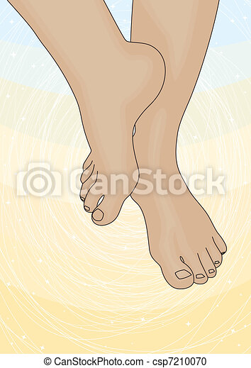 Image of the female feet - csp7210070