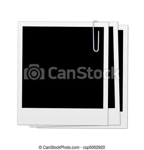 Image of various polaroids isolated on a white background. - csp5062920