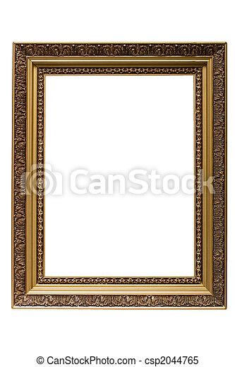 image, or, armature bois, isolé, plaqué, vide - csp2044765