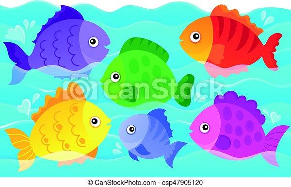 image, poissons, thème, stylisé, 4 - csp47905120