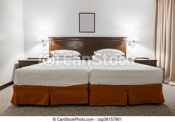 Image Salle Cadre Hotel Lit Jumeau Blanc Image Room Cadre