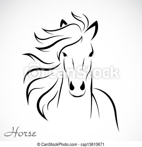 image, vecteur, cheval - csp13610671