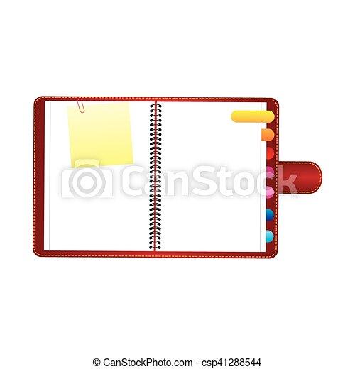 image, vide, bloc-notes, icône - csp41288544