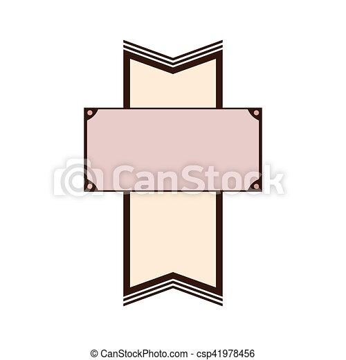 image, vide, emblème, icône - csp41978456