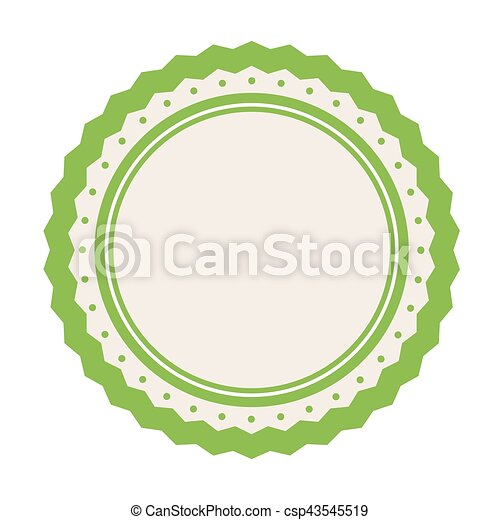 image, vide, emblème, icône - csp43545519