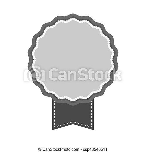 image, vide, emblème, icône - csp43546511