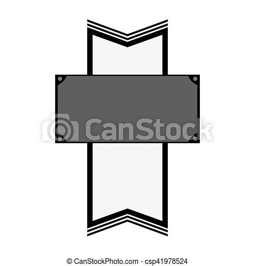 image, vide, emblème, icône - csp41978524