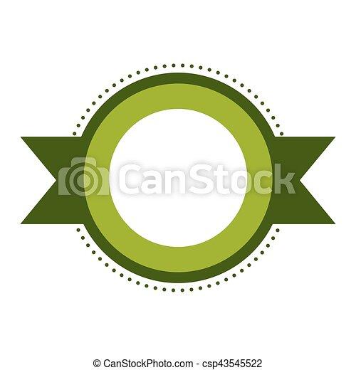 image, vide, emblème, icône - csp43545522