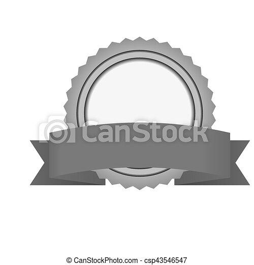 image, vide, emblème, icône - csp43546547